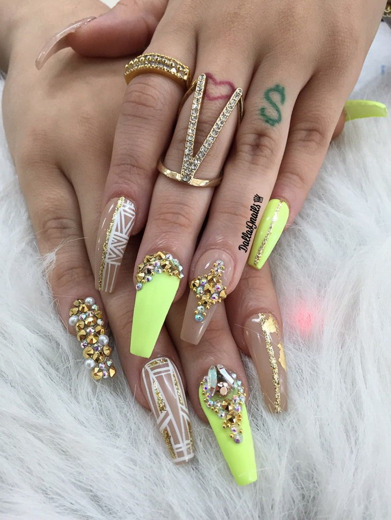 Freestyle ig @dallasalexiaxo #longnails #coffinnails #miaminails ...