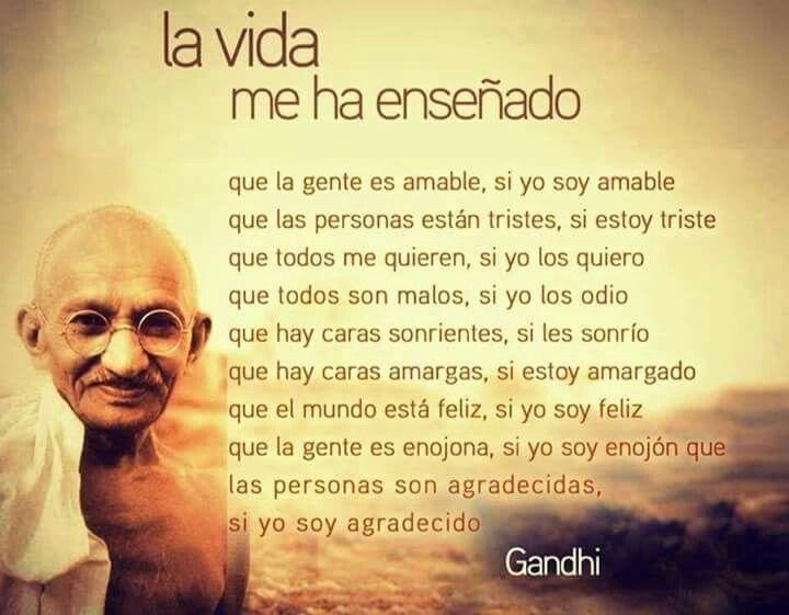 Gandhi Frases Pinterest