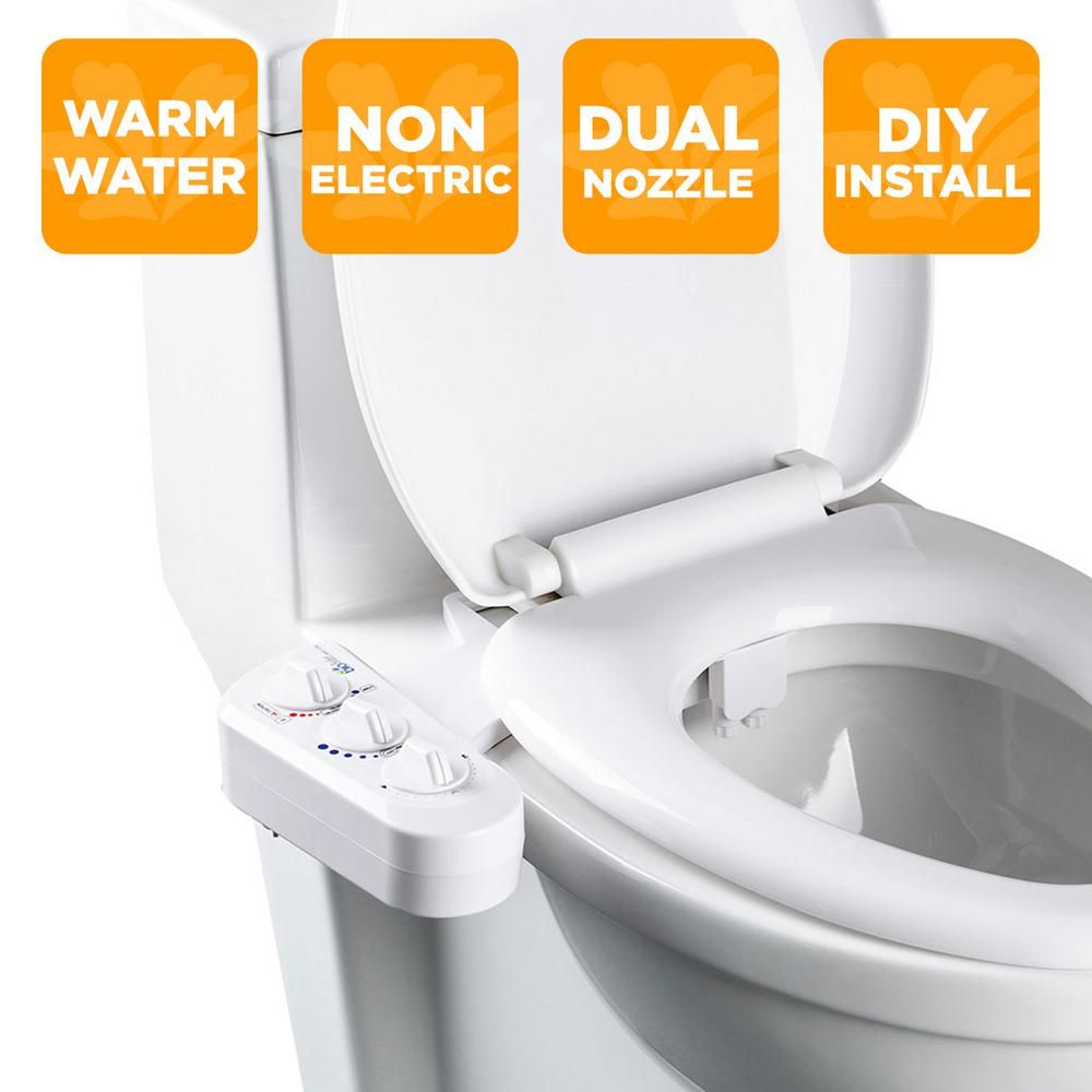Biobidet Economy Class Duo Bidet Attachment In White Bb 270 In
