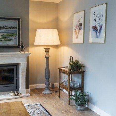Stehleuchte Ritual grau mit Lampenschirm 70cm weiß Diese #schöne - wohnzimmer landhausstil weiß