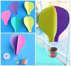Heissluftballon Basteln Basteln Kiga Heissluftballon Basteln