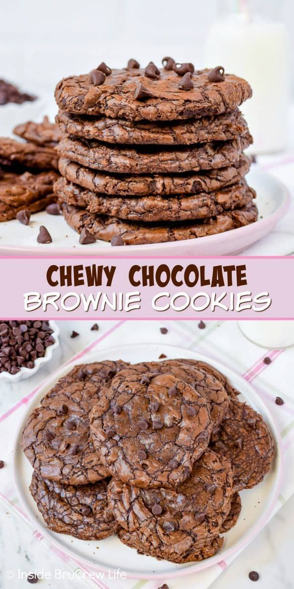 Photo of Chewy Chocolate Brownie Cookies – these chewy brow… – #brow #Brownie #chewy #C…