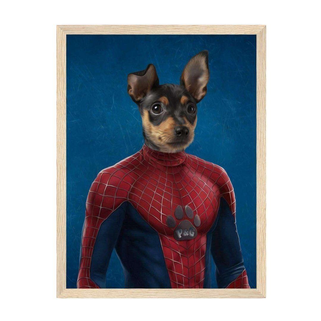 SpiderPaw: Custom Pet Portrait - A5 / Natural Frame