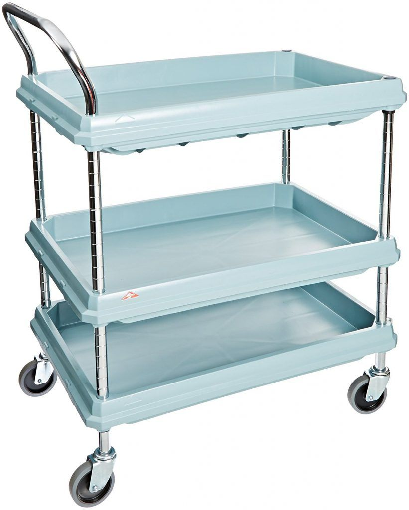 Metro Deep Ledge Series Antimicrobial Polymer Utility Cart | Utility ...