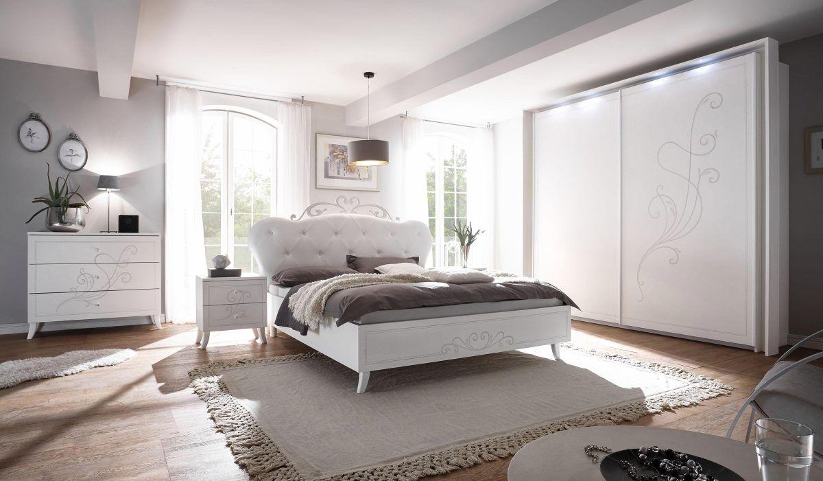 LC Massivholz Schlafzimmer-Set 13-tlg., weiß, mit Aufbauservice ...