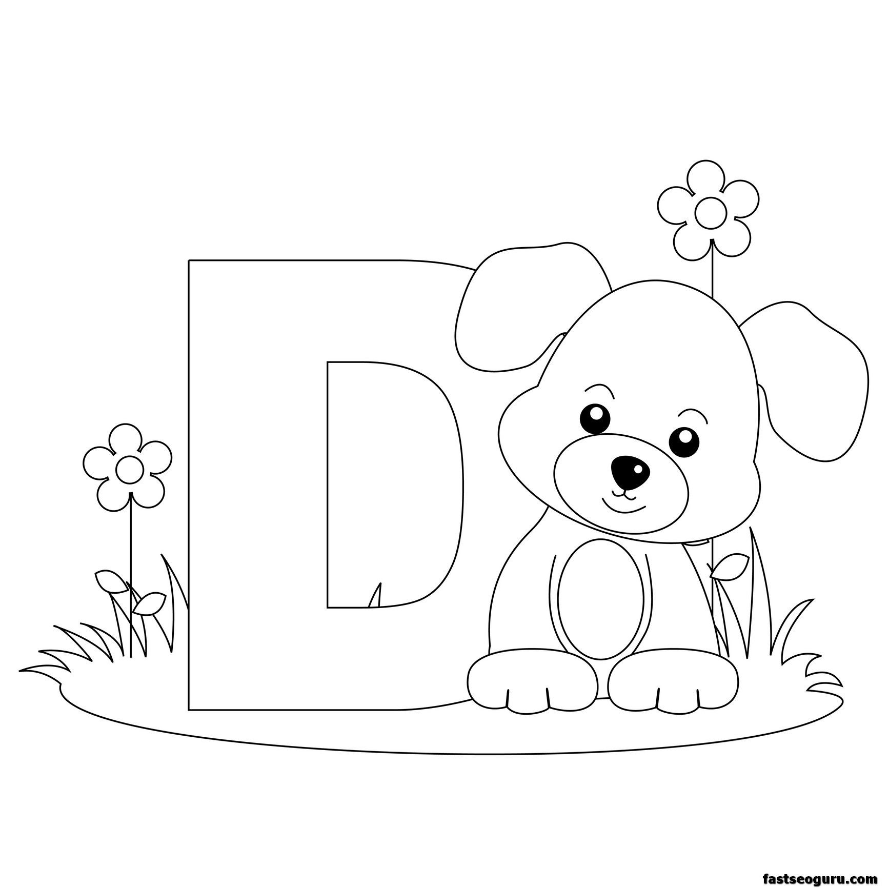 free printable alphabet coloring pages for kids best coloring pages for kids - Free Printable Alphabet Letters Coloring Pages