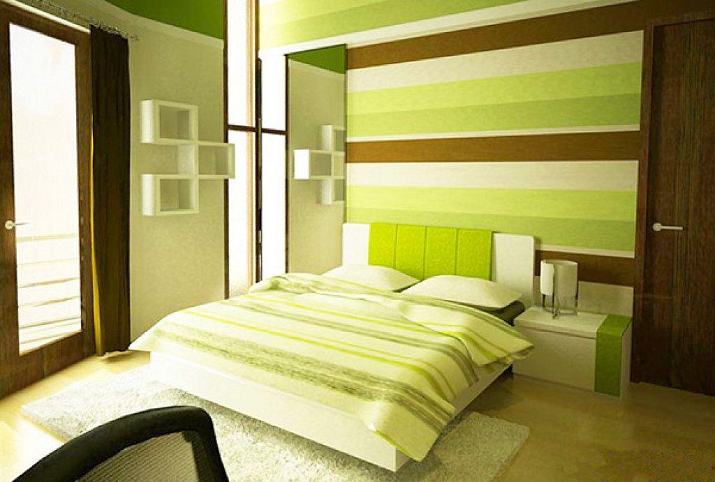 дизайн спальни в зеленых коричнево белых тонах фото преимущество использования шнековых