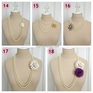 """How to wear a 60"""" Pearl Necklace 21 ways5 