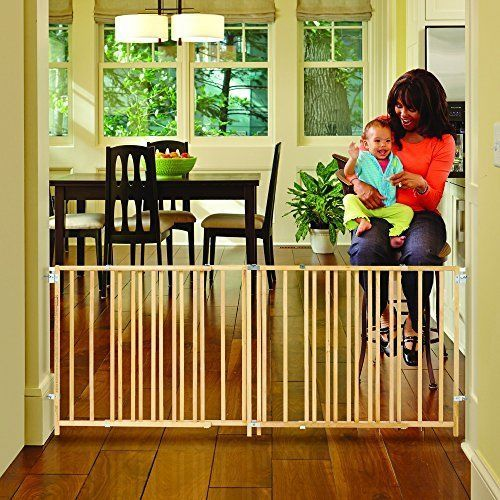 X Wide Swing Wood Gate Fits Spaces Between 60 And 103 Safety Gates
