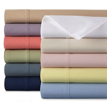 42965517986 JCPenney Home™ 300tc Easy Care Solid and Print Sheet Sets in 2019 ...