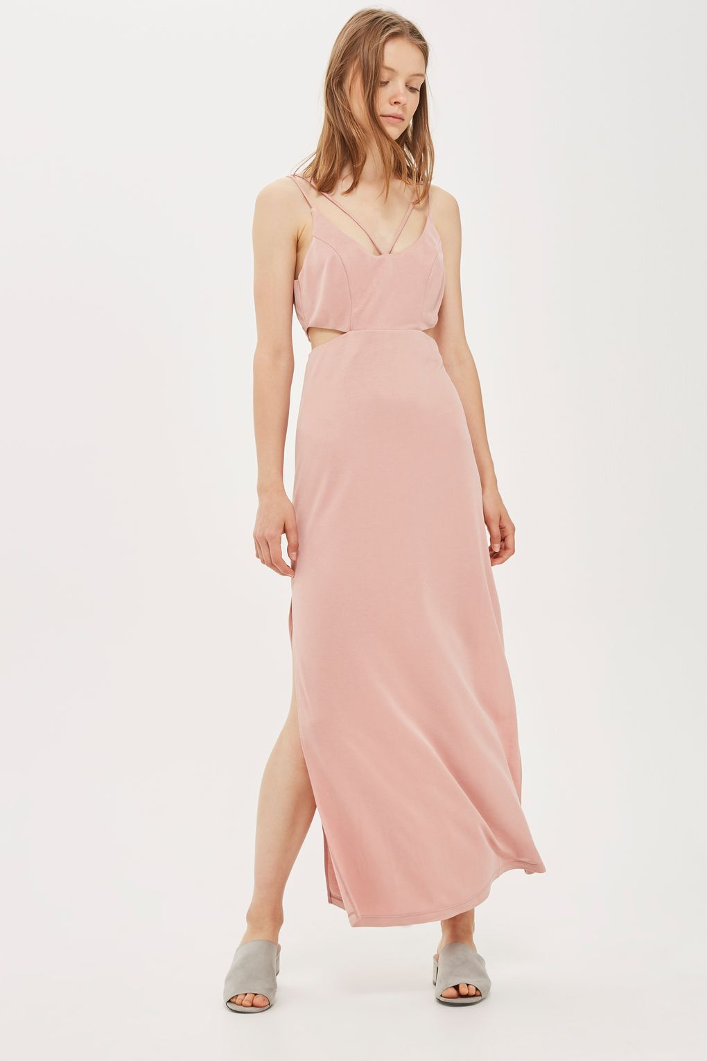 Pink slip dress outfit  Midi Maxi Dresses  Clothing  TopShop  thatud be neat  Pinterest