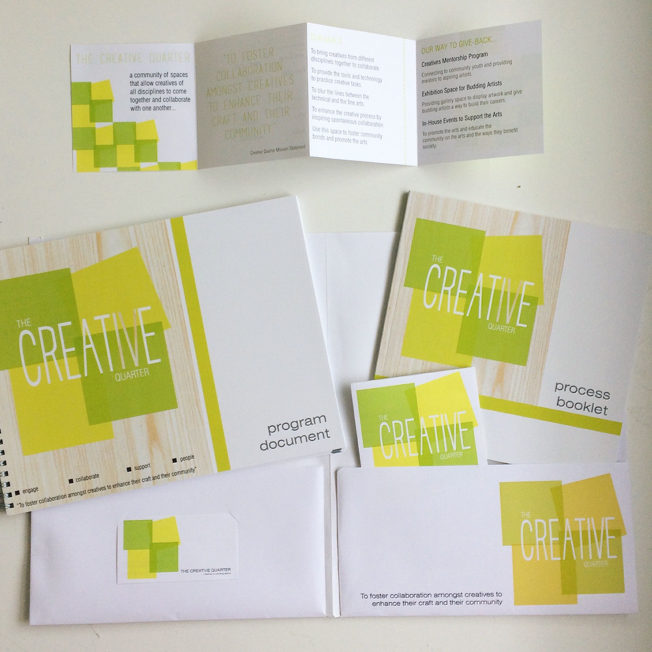 The Creative Quarter Typography Package Program Booklets