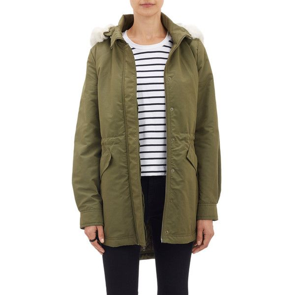 Barneys New York Tech Canvas Hooded Anorak
