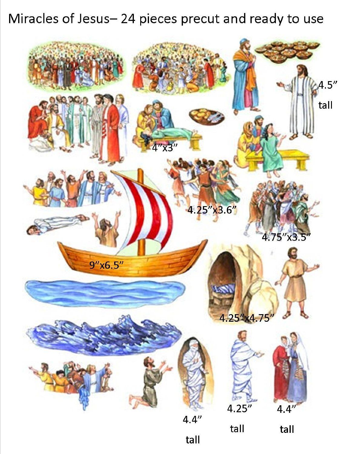 the miracles of jesus felt figures for flannel board bible stories