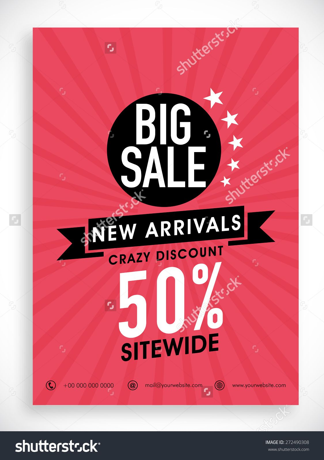 Stylish Big Sale Poster Banner Or Flyer Design With Discount