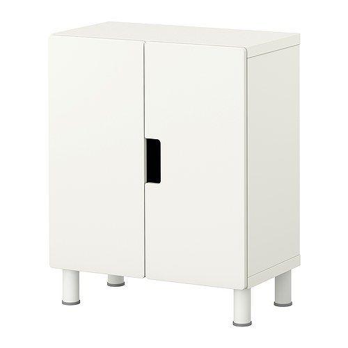 STUVA 収納コンビネーション 扉付, ホワイト, ホワイト 60x30x75 cm ホワイト/ホワイト