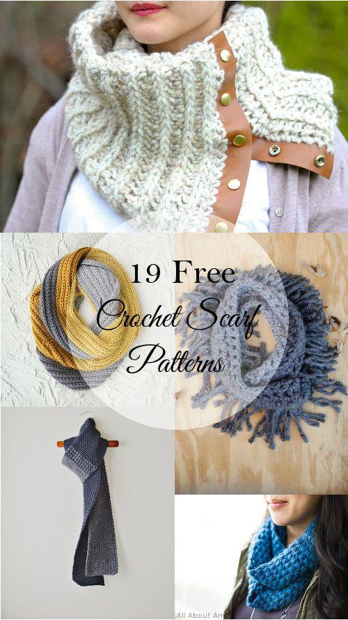 19 Pretty Crochet Scarves | Tejido, Bufanda cuello y Guantes