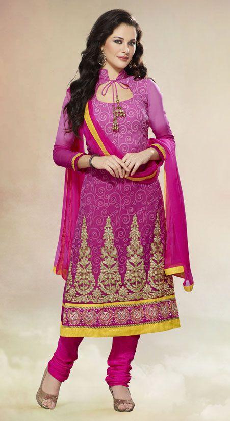 Stylish Shaded Pink Suit