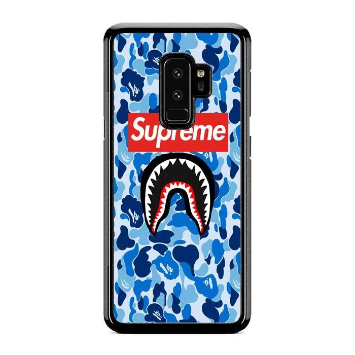 low priced c0c6e be793 Bape Blue Supreme Samsung Galaxy S9 Case | Republicase | Tattoos ...
