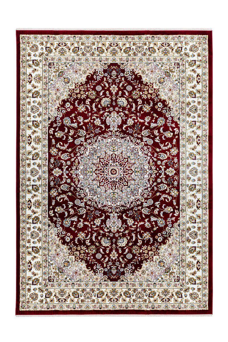 Teppich Scotland Oriental Look Fransenteppich Rot Teppich Orientalisch Teppich Beige