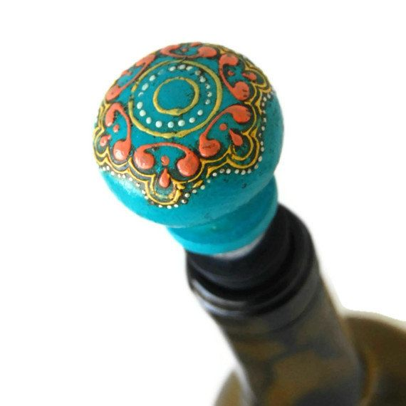 Unique Wine Stoppers!!! A perfect gift for wine lovers.