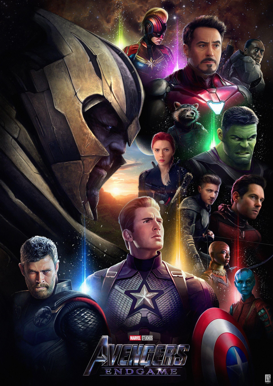 Avengers endgame movie poster by jackson caspersz avengers