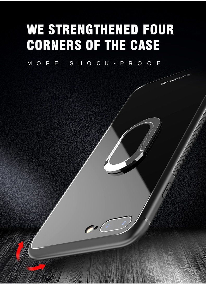 Glossy tempered glass case for iphone x xr xs max and