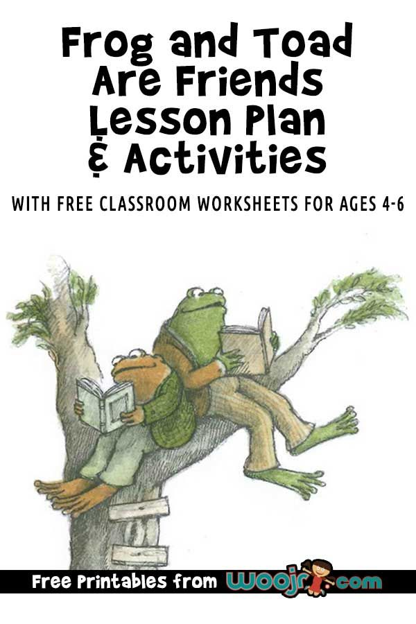 Frog And Toad Are Friends Lesson Plan And Activities Woo Jr Kids Activities In 2020 Frog And Toad Frog Activities Friend Activities