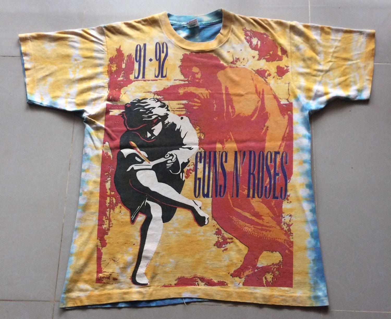 cd107e9f23847 Rare Vintage 1991 Guns n' Roses - Use Your Illusion Tour 91-92 All ...