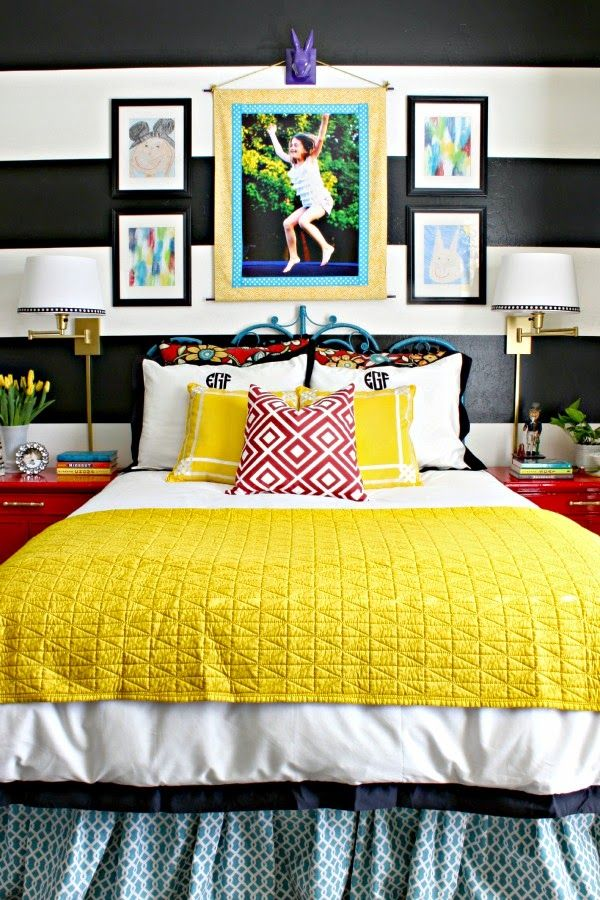 DIY FABRIC PHOTO WALL ART | Colorful girls bedrooms, Bedrooms and ...