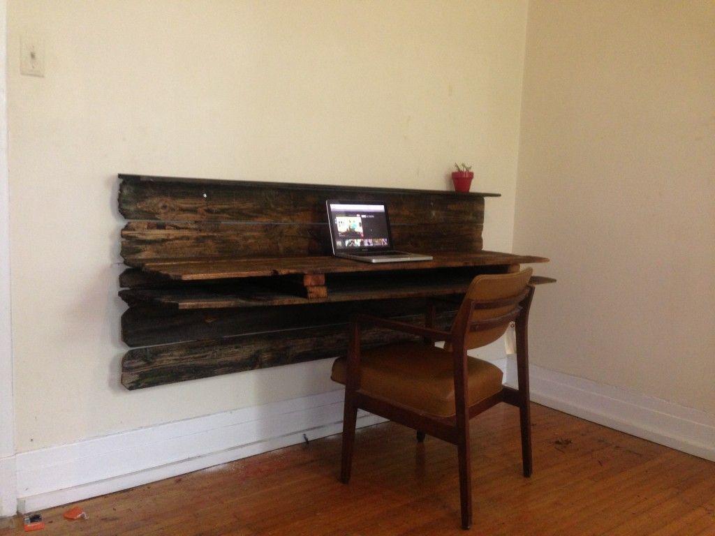 rustic floating desk and chair reimagined desks and. Black Bedroom Furniture Sets. Home Design Ideas