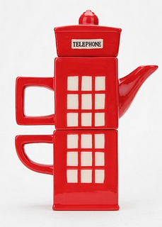 tea pot english phone booth ... Love the look :)