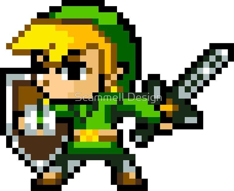 The Legend Of Zelda Link 16 Bit Sprite Sticker By Crampsy