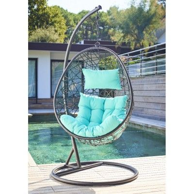 fauteuil de jardin suspendu noir et bleu fauteuil de jardin suspendu fauteuils de jardin et. Black Bedroom Furniture Sets. Home Design Ideas