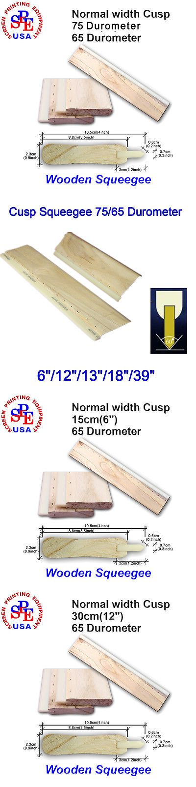 "1psc Cusp Squeegee 75//65 durometer Silk Screen Printing( 6/""//12/""//13/""//18/""//39/"")"