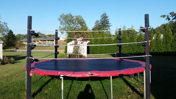 Trampoline Wrestling Ring Wwe Birthday Party Wrestling Birthday Parties Wwe Birthday
