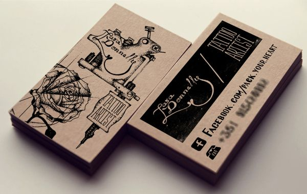 Thearthunters Tattoo Artist Business Cards Artist Business Cards Design Artist Business Cards