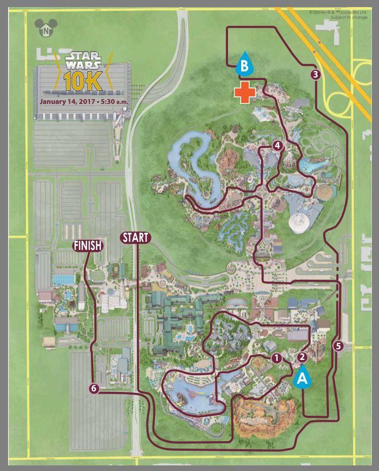 Disney Marathon Course Map 2017 : disney, marathon, course, RunDisney, Disneyland, Light, Course, Wars,, Disney,