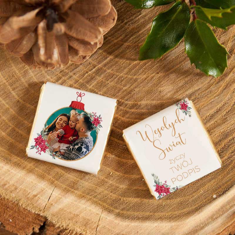 Czekoladka Swiateczna Ze Zdjeciem I Zyczeniami Book Cover Tableware Coasters