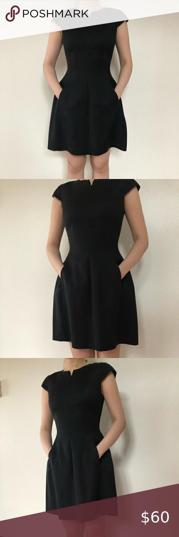 Armani Exchange Black Dress With Pockets Size 0 Black Dress With Pockets Black Dress Dresses [ 1740 x 580 Pixel ]