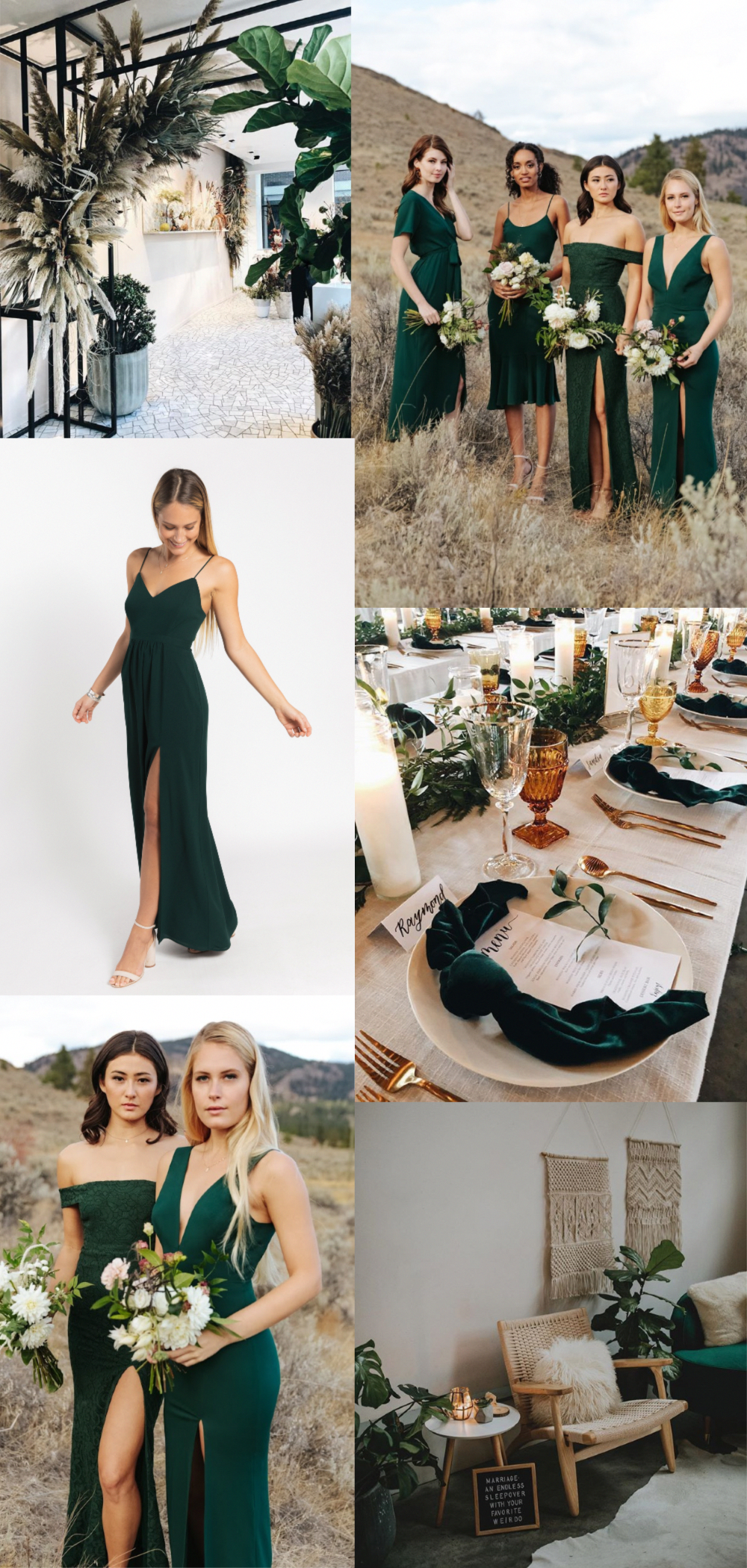 Hunter Green Bridesmaid Dress Wedding Inspiration With Hunter Green As The Accent C Green Bridesmaid Dresses Emerald Green Bridesmaid Dresses Green Bridesmaid