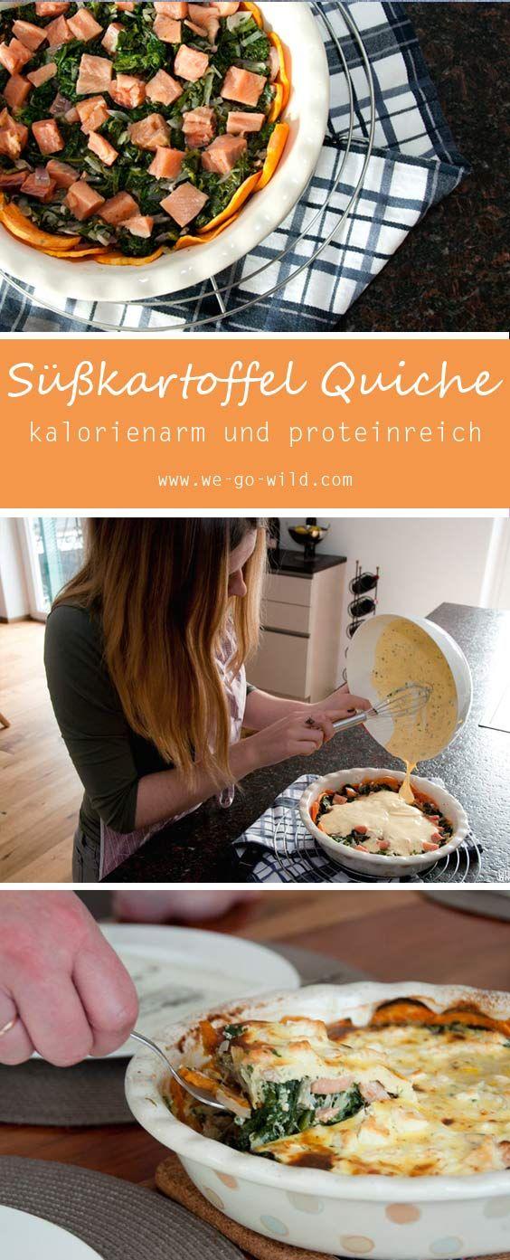 Süßkartoffel Quiche mit Spinat und Lachs – WE GO WILD
