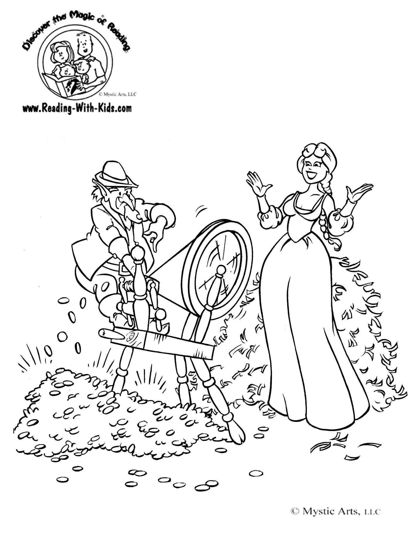 Rumplestilskin Coloring Sheet FairyTale FairyTales