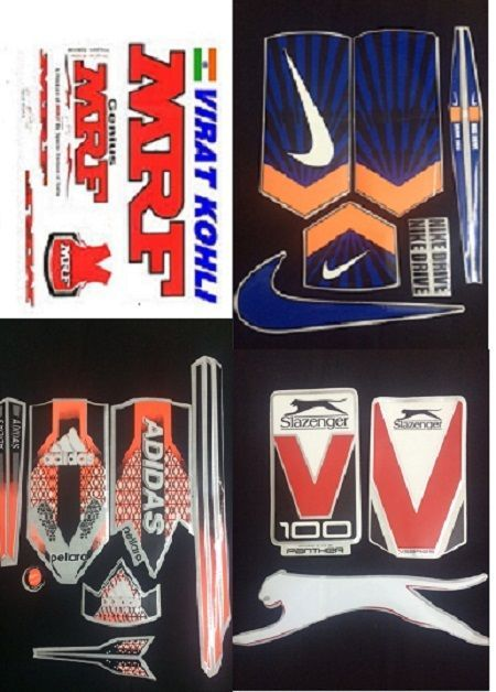 Cricket Bat Sticker Nike Adidas Mrf Replacement Stickers Tape Pack Of 4 Sale Cricket Bat Cricket Store Cricket