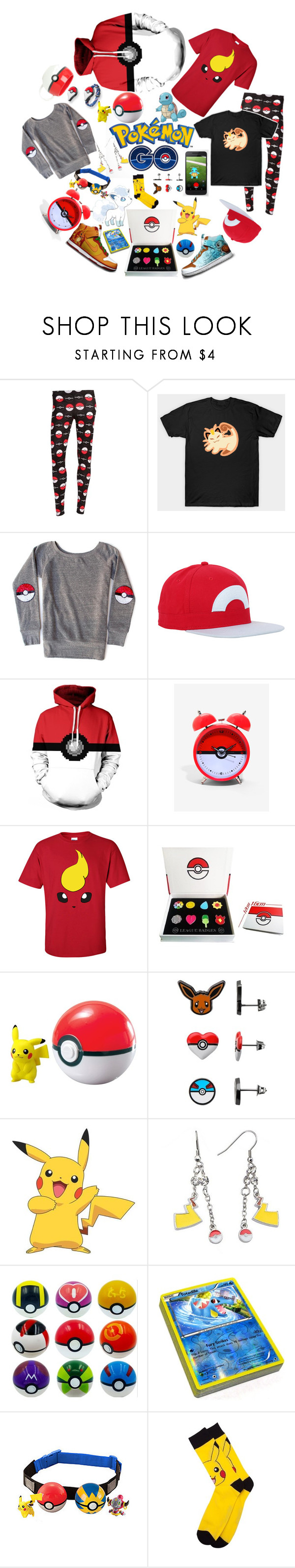 """""""Pokémon Go"""" by scarletj17 ❤ liked on Polyvore featuring NIKE, Ball and York Wallcoverings"""