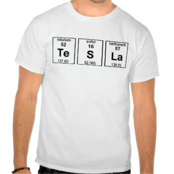 Tesla element symbols t shirt pinterest tesla electricity periodic table of the elements chemical symbol humor nikola tesla electricity wizard electric power nuclear chemistry chemicals molecule molecules word urtaz