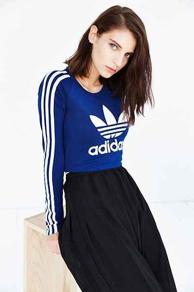 adidas originals cropped graphic t shirt
