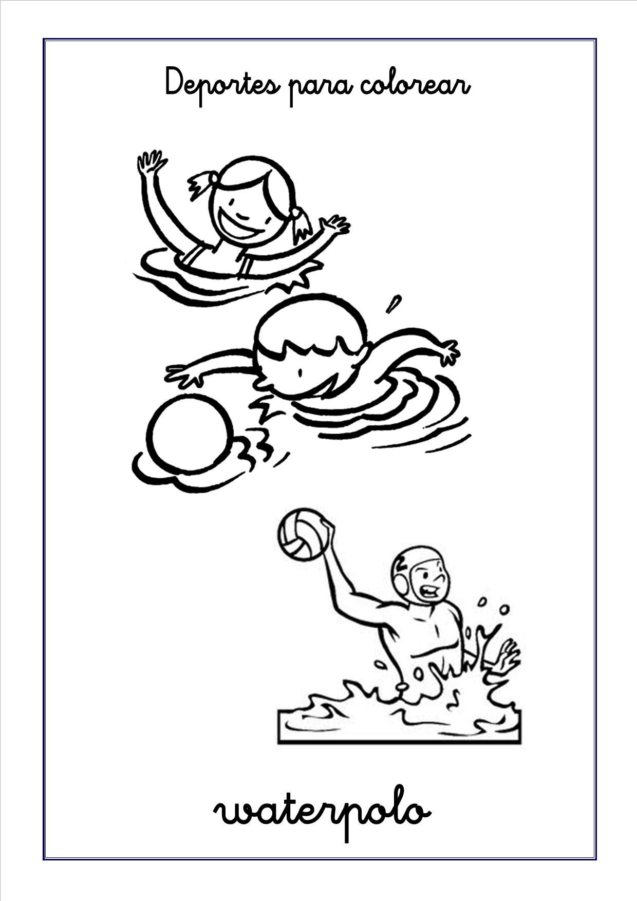 marco polo coloring page coloring page outline sports waterpolo
