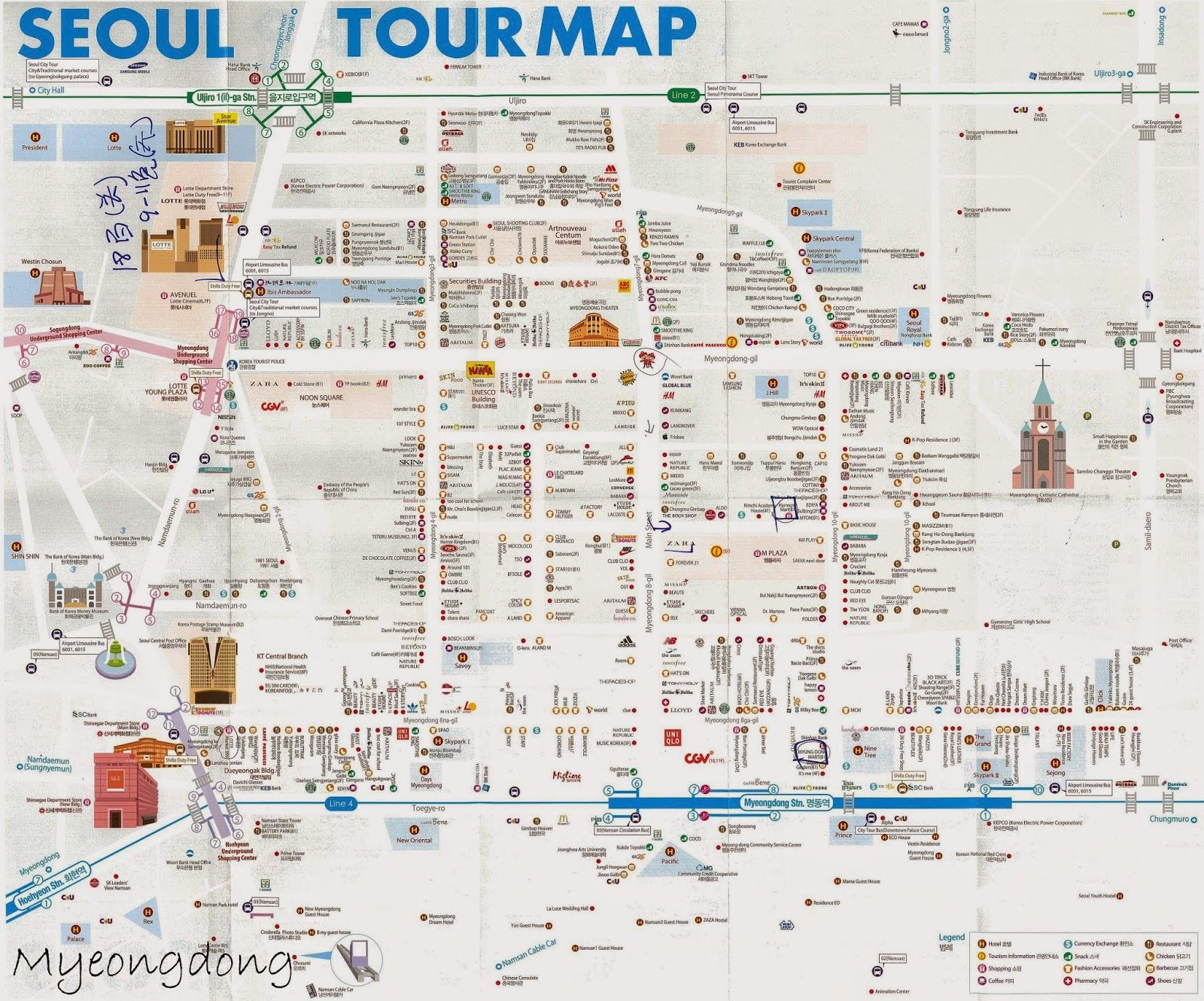 Myeongdong map Coria Trip Pinterest Korea Seoul and South