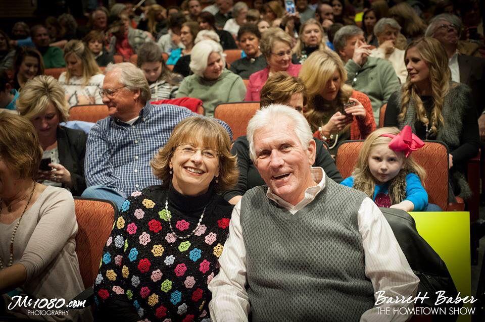 Happy mom dad at hometown show jan 21 2016 hometown